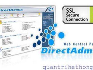 DirectAdmin SSL install