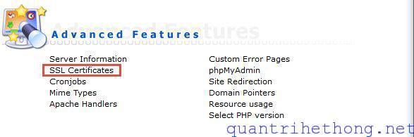 install SSL directadmin