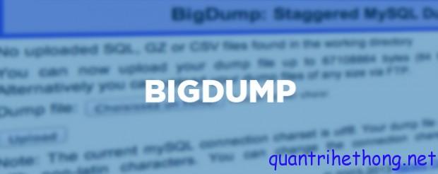 bigdump import database