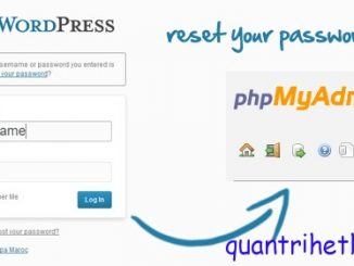 wordpress how to reset password