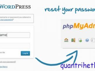 wordpress how to reset password