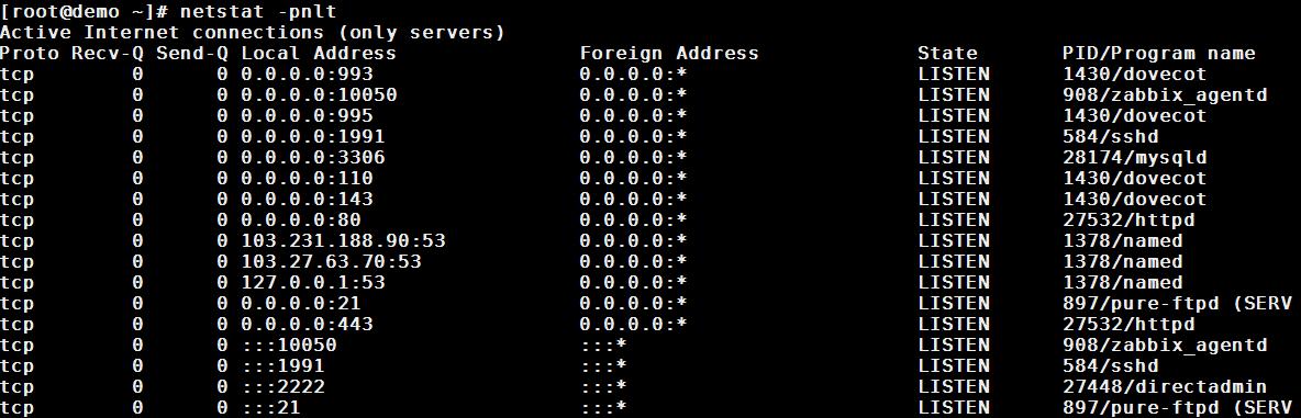netstat linux command