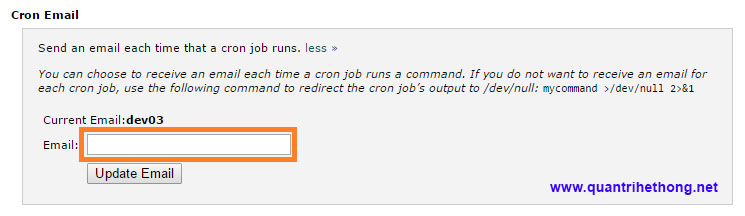 email cron job cpanel